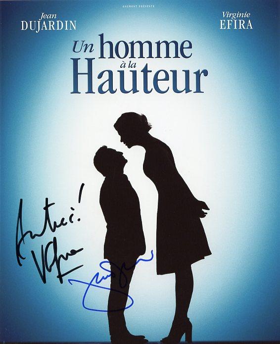 Autographe dujardin jean efira virginie vente photo for Jean dujardin autographe
